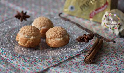 Recette de petits choux roquefort et poire aux épices de noël