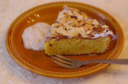 Recette de gâteau sicilien à l'orange et aux amandes