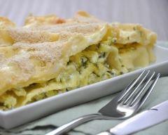 Recette lasagnes light aux courgettes et chèvre frais