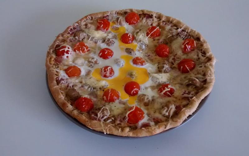 Recette pizza végétarienne économique > cuisine étudiant