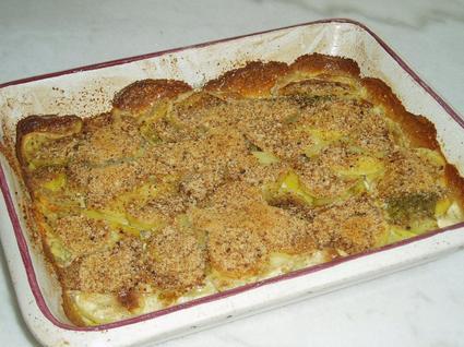Recette de gratin de pommes de terre au pesto