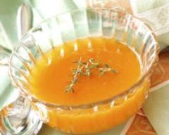 Recette soupe d'abricots au thym
