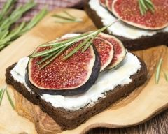 Recette toasts figues chèvre