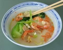 Recette soupe au porc et aux crevettes