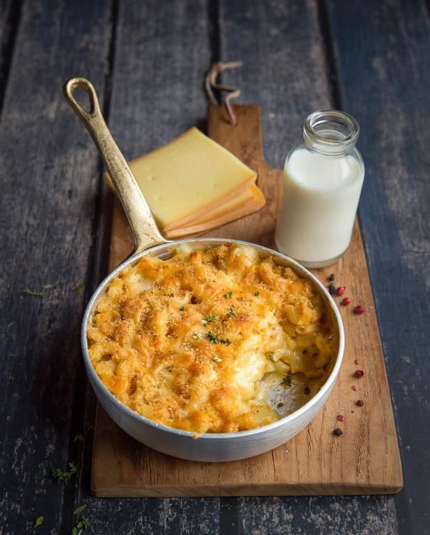 Mac & cheese à la raclette pour 4 personnes