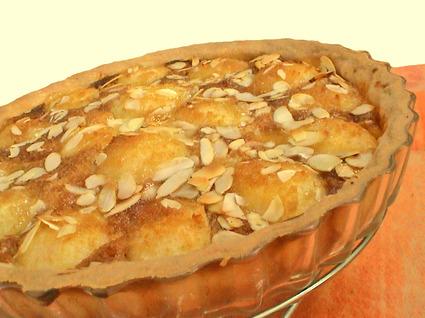 Recette de tarte aux poires à la crème de pain d'épice