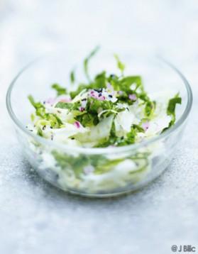 Salade de fenouil et épinards, sésame noir pour 6 personnes ...