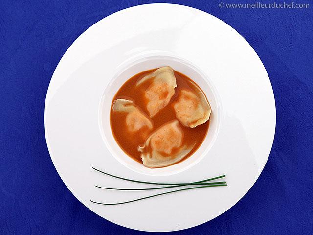 Ravioles de homard et sa bisque  fiche recette avec photos ...