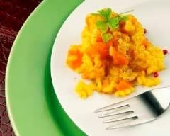 Recette curry de carottes en risotto