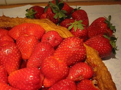 Recette de tarte aux fraises sans crème