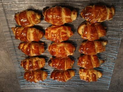Recette de petits croissants saumon et fromage