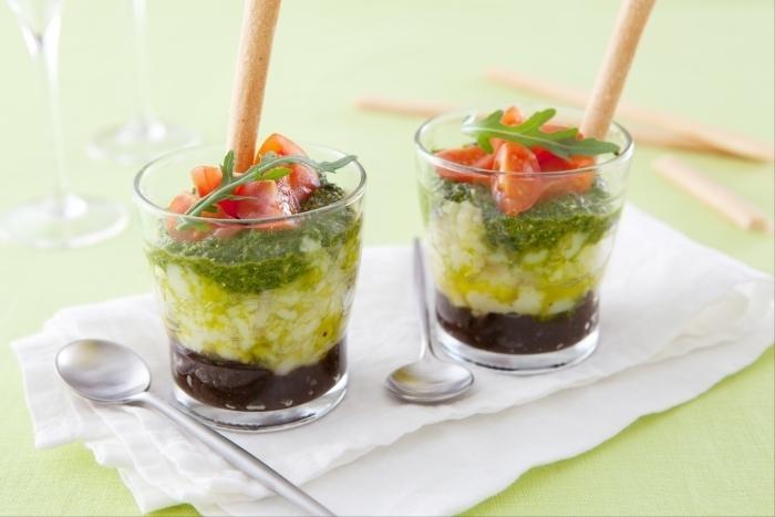 Recette de verrine de salade de pommes de terre à l'italienne facile ...