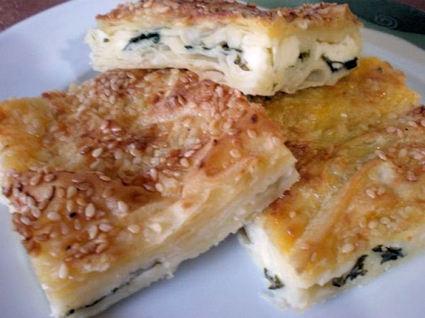 Recette de pâte feuilletée au fromage blanc et à l'eau gazeuze