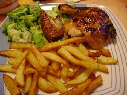 Recette de poulet moutarde-miel et frites belges