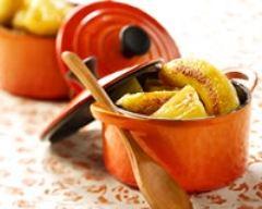 Recette mini cocottes bananes et ananas flambés au cointreau