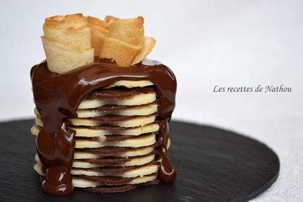 Recette de gâteaux de crêpes au chocolat
