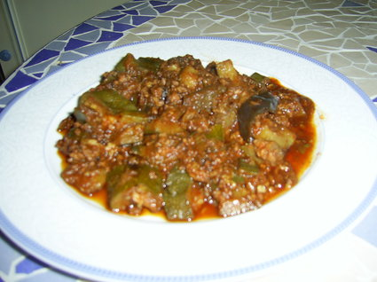 Recette de confit de courgettes, aubergine et haché au massalé