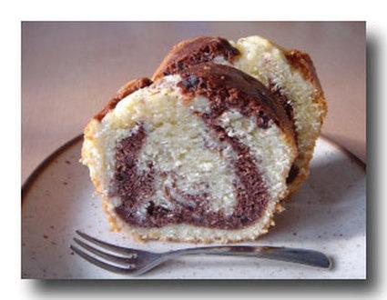 Recette de cake marbré vanille-chocolat