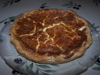 Recette de tarte au boursin et au jambon fumé