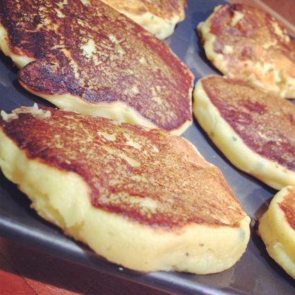 Recette de pancake de pomme de terre échalote ciboulette