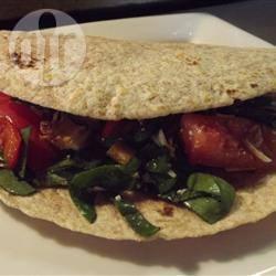 Recette wraps chauds au poulet et aux légumes sautés – toutes les ...