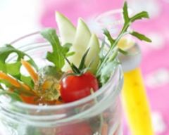 Recette salade folle aux croutons de gelée de pommes aux écorces ...