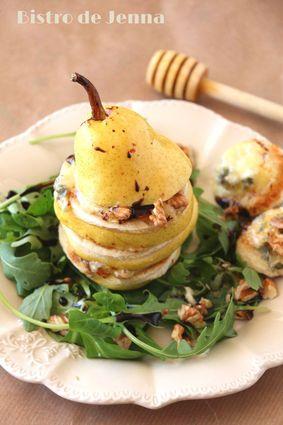 Recette de poire au gorgonzola et au miel