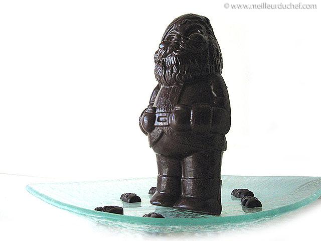 Père noël en chocolat (moulage)  notre recette illustrée ...