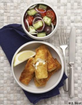Feta frite et salade grecque pour 4 personnes