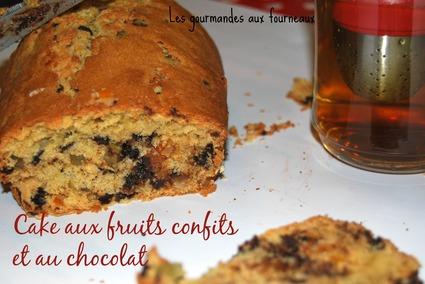 Recette de cake aux fruits confits et au chocolat