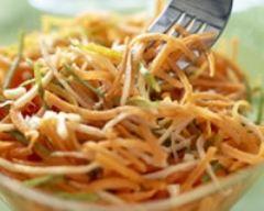 Recette carottes râpées aux zestes de citron vert et au cumin