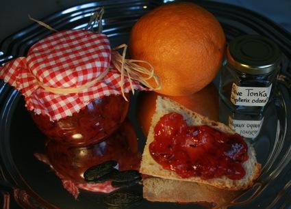 Recette de confiture bio orange sanguine et fève tonka