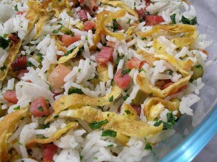 Recette de riz cantonnais à la réunionnaise