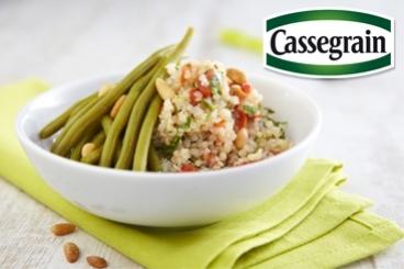 Recette de salade de haricots verts cassegrain et quinoa aux ...