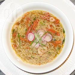 Recette soupe asiatique aux crevettes et aux nouilles – toutes les ...