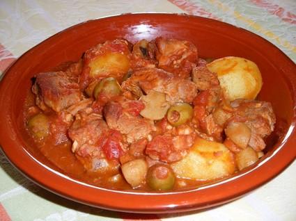 Recette de sauté de veau aux olives