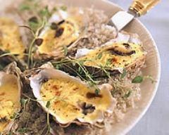 Recette huîtres gratinées