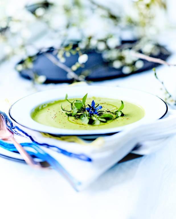 Potage aux asperges vertes pour 4 personnes