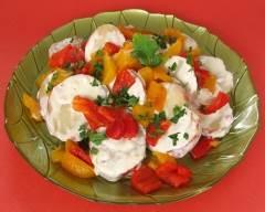 Recette salade de pommes de terre et poivrons rôtis