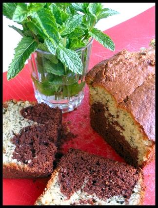 Recette de cake marbré chocolat-menthe