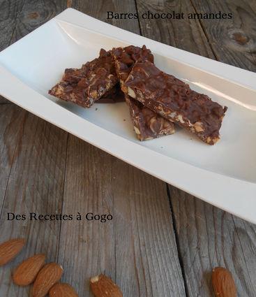 Recette de barres chocolat amandes