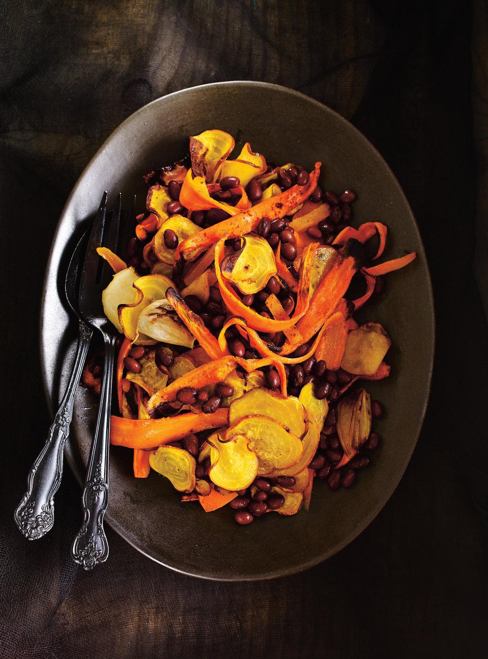 Salade de betteraves, de carottes et de haricots noirs | ricardo