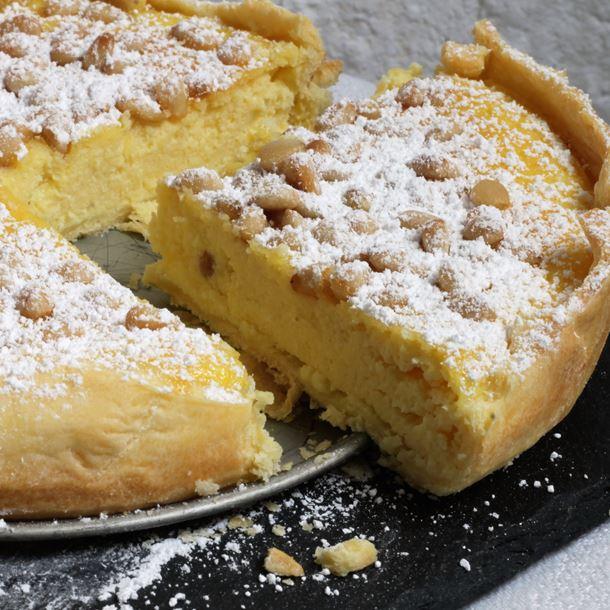 Recette torta della nonna à la ricotta et au citron