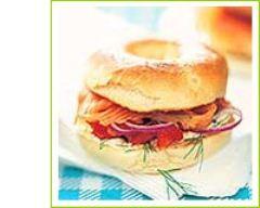 Recette bagels au saumon fumé