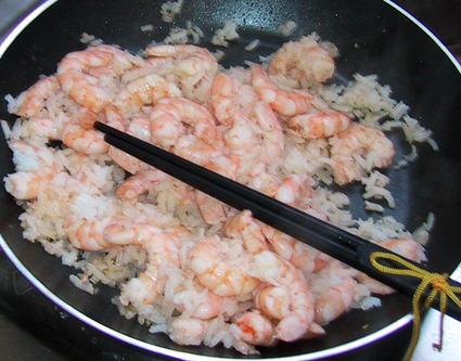 Recette de crevettes sautées au gingembre