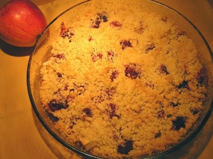 Recette de crumble aux pommes et framboises