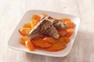 Recette de escalope de veau et carottes glacées au cumin facile et ...