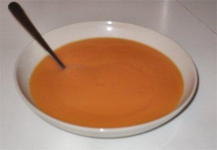 Recette de velouté potiron-carottes au curry