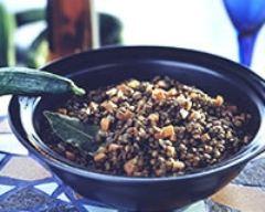 Recette salade de lentilles au surimi