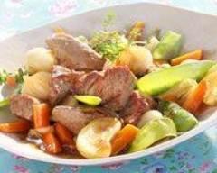 Recette jarret de veau aux légumes printaniers